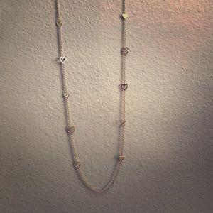 Coach Long Heart Necklace